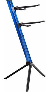 Suporte 2 Teclado Stay Slim 1100/2 Aluminio Azul C/ Bag