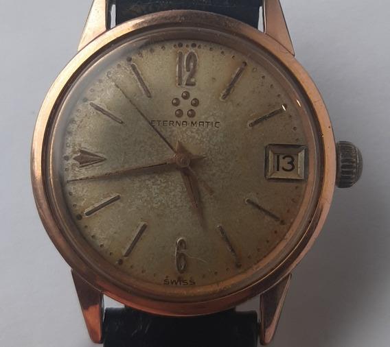 Relógio Suiço Eterna Matic Plaqué Or 80 Microns 31mm