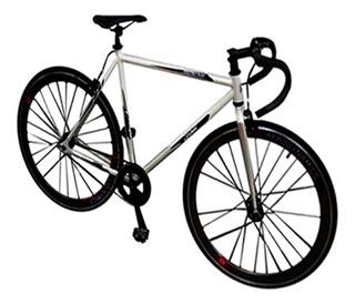 Bicicleta Rodada 700c Fixie Manubrio Carrera Blanco Cosmic