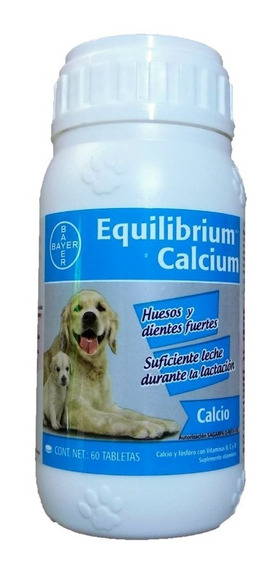 Bayer Equilibrium Calcio Perro Frasco 60 Tabletas Original