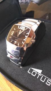Reloj Lotus Original De Acero Inoxidable Para Hombres