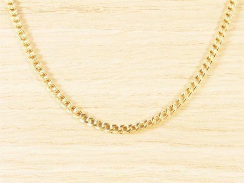 Cordão Corrente Masculina Grumet 50cm 3mm Folheada Á Ouro