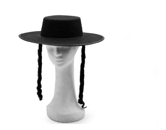 Sombrero Judío Rabino Colectividad Disfraz Cotillón X 12