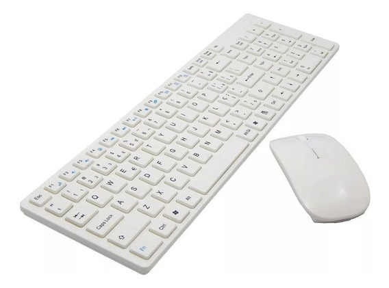 Kit Teclado E Mouse Sem Fio Wifi Usb Preto- Smart Pc S1000