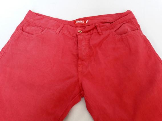 Pantalon Gabardina Hombres Color Rosa Terracota Talle Xl U8k