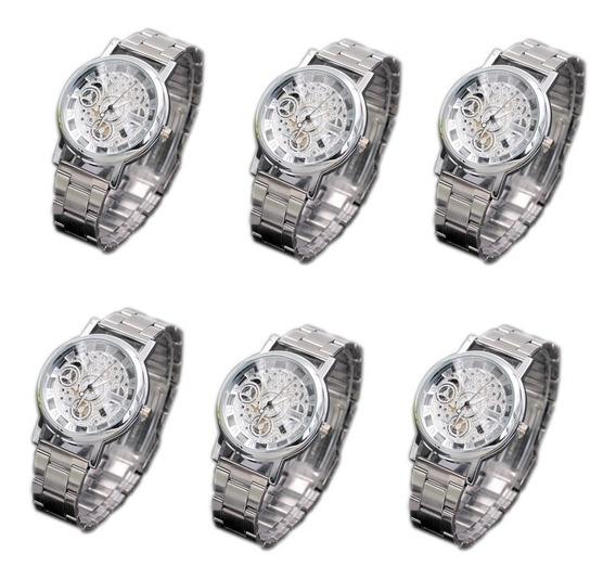 6 Reloj Metálico Elegante Mayoreo Economico Envio Gratis