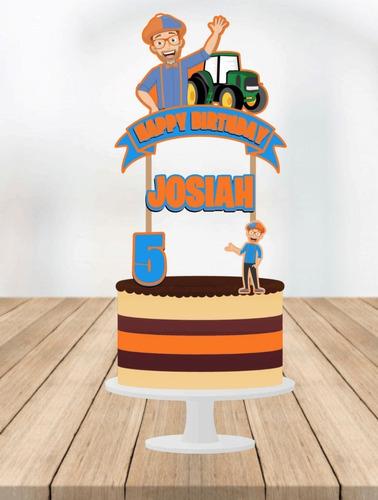 Imagen 1 de 5 de Cake Topper Blippi Adorno Para Tortas