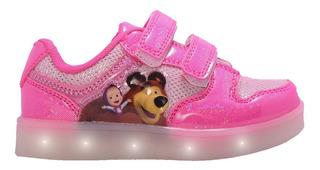 Zapatillas Masha Footy Con Luces Mbx109 C44