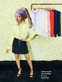 Camisa Feminina Social Executiva Manga Longa