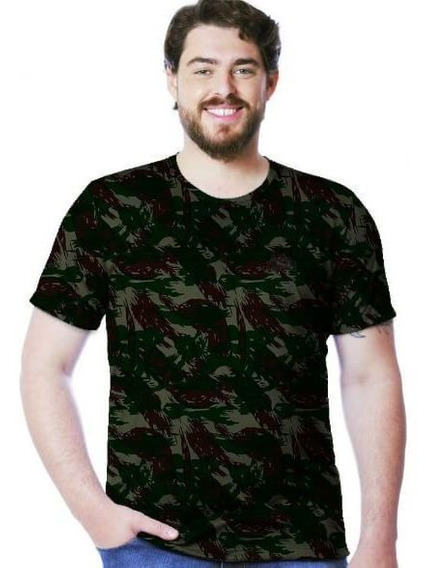 Camiseta Camuflada Exercito Manga Curta Real Hunter