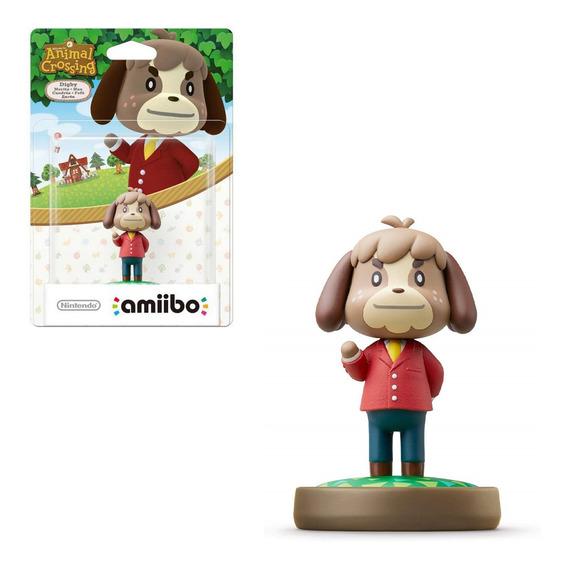 Boneco Amiibo Animal Crossing New Horizons Digby Switch 3ds