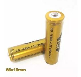2 Bateria 18650 Li-ion Gold 8200mah 3.7v Lanterna Tática Led
