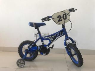 Bicicleta X-terra Klt Bmx Rodado 12 Azul Varón Nene Niño