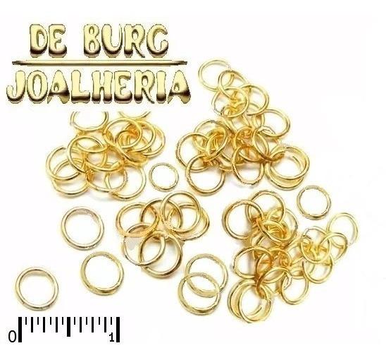 Terminais Argola P/correntes Ouro 18k-750 Lote 4 Unidades
