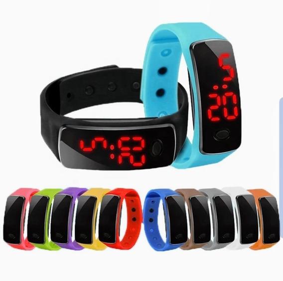 12 Pz Reloj Led Digital Moda Unisex Deportivo Barato Mayoreo