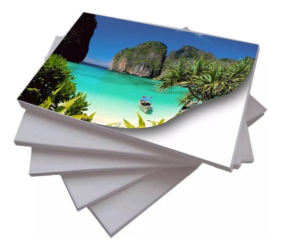 100 Folhas Papel Fotográfico Adesivo A4 Glossy 115g Premium