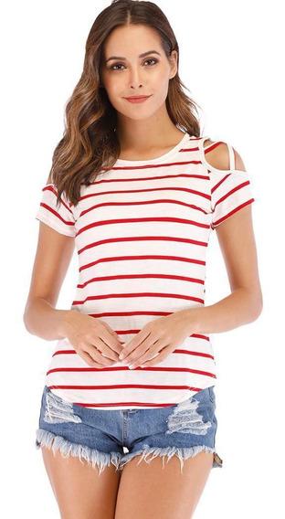 Camiseta Casual De Manga Corta Con Cuello Redondo, Camiseta