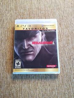 Metal Gear Solid 4 Ps3 Original