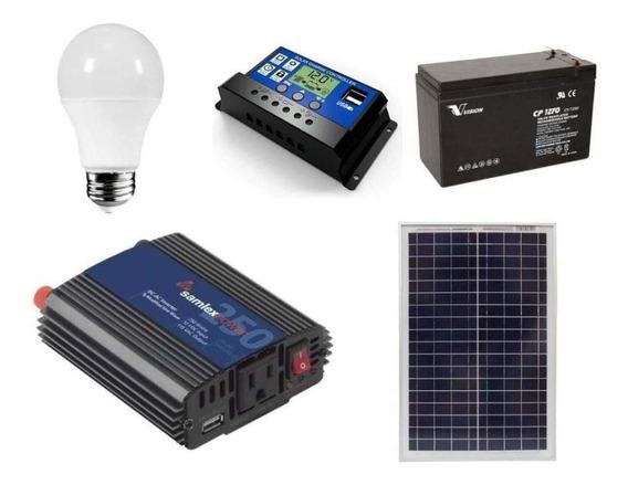 Kit Solar Paneles Solares Kit Fotovoltaico Para Cabañas