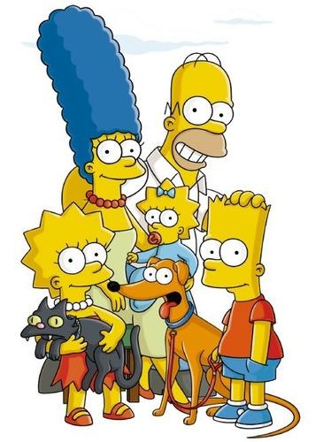 Vinil Decorativo Los Simpsons 03 Calcomanía De Pared.