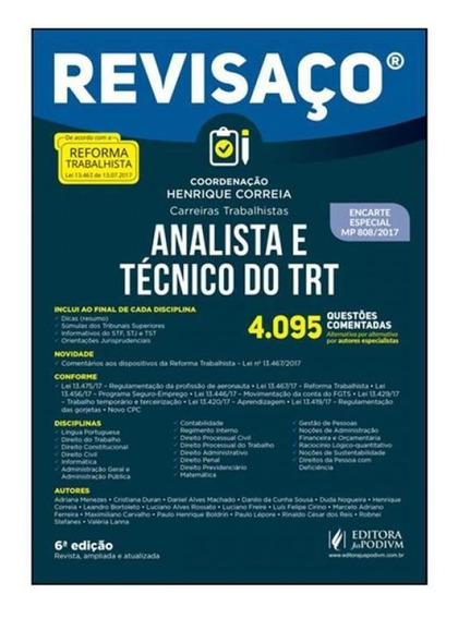 Analista E Tecnico Do Trt - Revisaco - Juspodivm