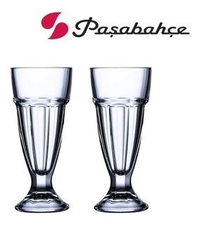 Set X2 Copa Sundae Pasabahce Vaso Alto Helado Postre Palermo