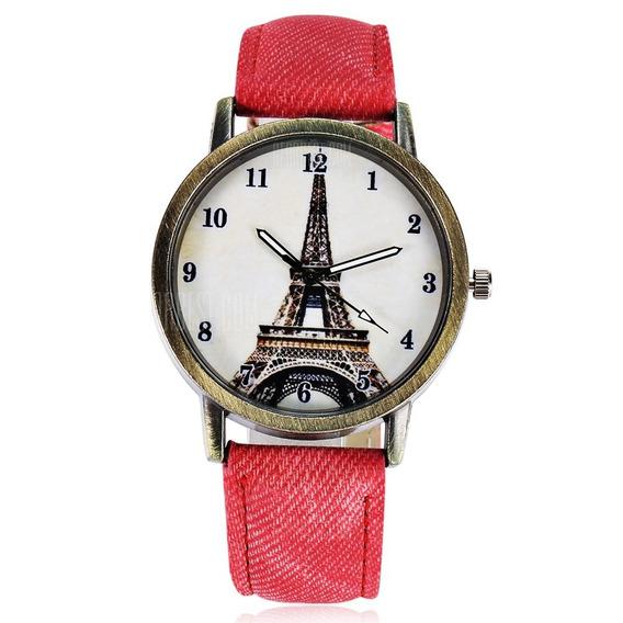 Relógio Feminino Analógico Paris Torre Eiffel