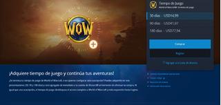World Of Warcraft Ficha 30 Días Tiempo De Juego