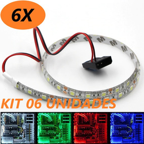 Kit 06 Fita Led Pc Gamer 50cm Prova D