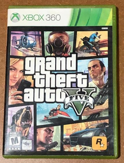 Gta V Xbox 360 Mídia Física Seminovo 2 Discos + Mapa Perfeit
