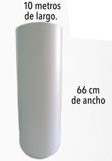 Vinil De Impresión O Corte Blanco Mate De 66cmx10mts Mactac