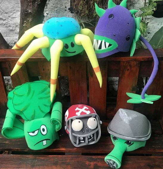 5 Gorros Plantas Vs Zombies Videojuegos Disfraces Halloween