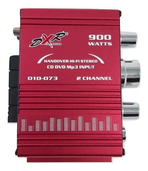 Amplificador Rojo 900w Dxr Mini 2 Canales 010-073