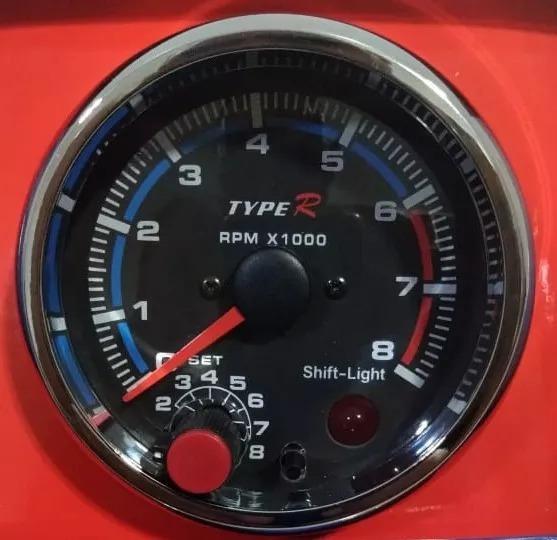 Contagiro Rpm Tacômetro Relógio Com Shift Light 95mm Preto