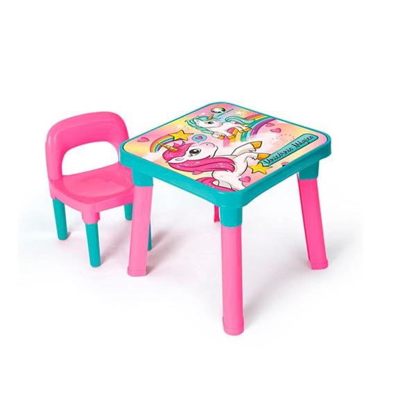 Mesa Com Cadeira Unicórnio Mágico - Monte Líbano