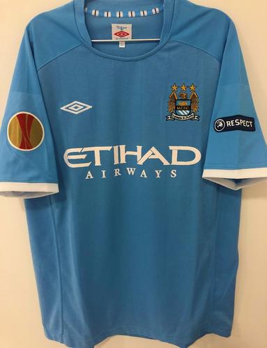 Camisa Manchester City 2010/11 Tevez #32 Europa League