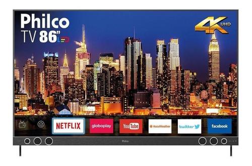 Imagem 1 de 4 de Smart Tv Philco Ptv86p50snsg Led 4k 86