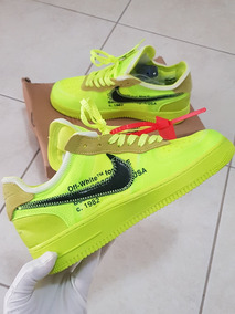 Tenis Nike Air Force 1 Off White Offwhite Volt Af1