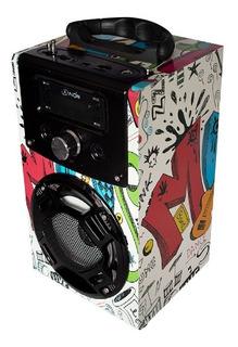 Bocina Portátil Bluetooth Karaoke Con Micrófono Luces Led