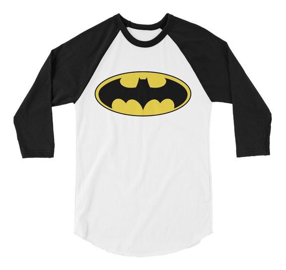Playera Raglan 3/4 Batman Logo