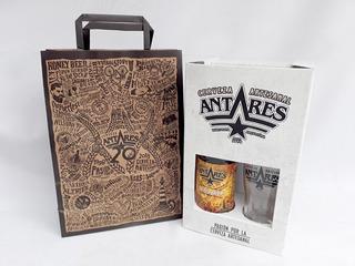 Caja Regalo + Vaso + Bolsa + Cerv. Antares Honey
