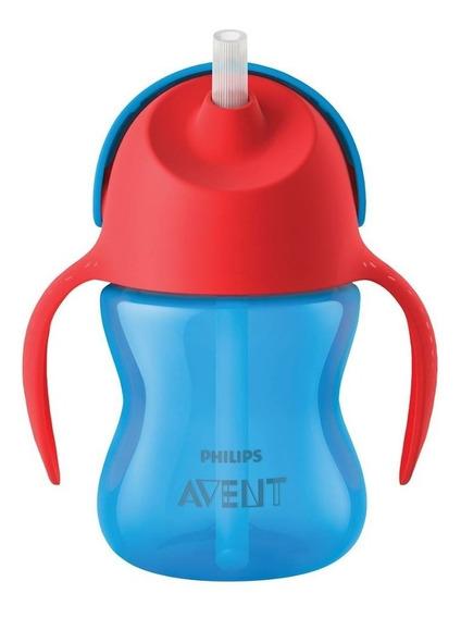 Vaso Avent. My Bendy Straw Cup. Con Asas, +9 Meses. 200ml