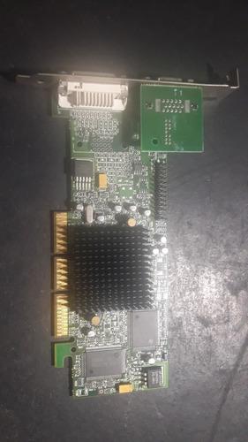 Imagem 1 de 2 de Placa De Video Agp Dual (vga + Dvi) Matrox G55 + Mdha32dr