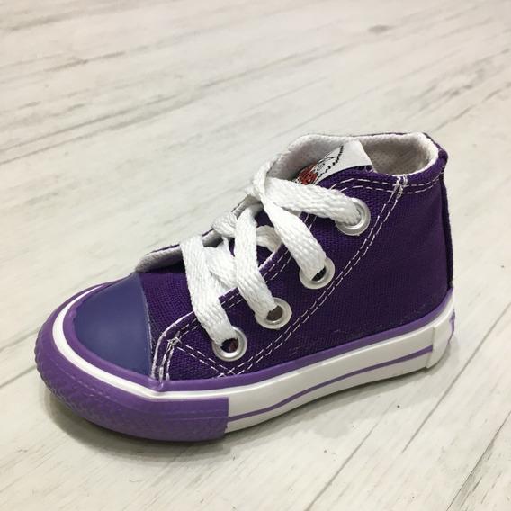 Zapatillas Bota- Roller Violeta -lona