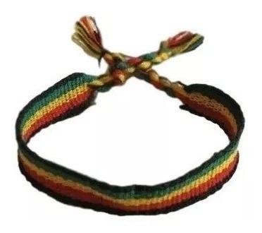 Pulseiras Tornozeleiras Jamaica Do Reggae Grossa 2cm