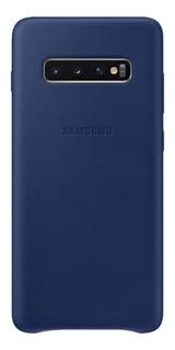 Capa Protetora Samsung Galaxy S10+ Couro Azul
