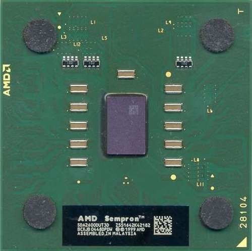 Processador Amd 462 Sempron 2600+ Verde Ou Marrom
