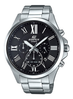 Reloj Casio Edifice Efv-500d-1a Plateado Acero 18 Cuotas