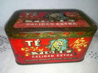 Lata Antigua De Te Tigre Es De Industria Argentina De 1960