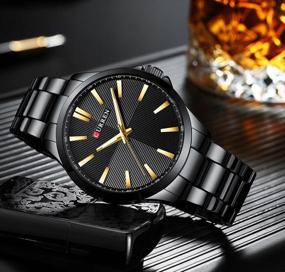 Relógio Curren Modelo 8322 Masculino Pulso Aço Inoxidável